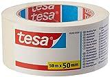 tesa Malerband ECONOMY - Vielseitiges Klebeband für Malerarbeiten ohne Lösungsmittel - Bis zu 4 Tage nach Gebrauch rückstandslos entfernbar, 50 m x 50 mm