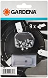 Gardena Mähroboter Ersatzmesser: Klingen für Mähroboter (für Artikel 4071 und 4072), präzises Schneiden, Set mit 9 geschärften Messern und 9 Schrauben, einfaches Austauschen (4087-20)