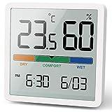 NOKLEAD Digitales Thermo-Hygrometer, Tragbares Thermometer Hygrometer Innen mit hohen Genauigkeit, Temperatur und Luftfeuchtigkeitsmesser für Raumklimakontrolle Raumluftüerwachtung Klima Monitor