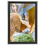 Yorbay Bilderrahmen zum Aufstellen, Aufhängen, aus Holz Fotorahmen und Bildabdeckung, Schwarz, aus Plexiglas Foto Collage (20 * 30cm / 11 Zoll) (Mehrweg)