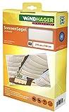 Windhager Sonnensegel für Seilspanntechnik, Wintergarten und Terrassen Beschattung, Seilspannmarkise, 270 x 140 cm, Uni Weiß, 10874