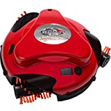 Grillbot   automatischer Grillreinigungsroboter mit Nylonbürsten - Grillreiniger - Grillbürste - Grillschaber - Grillzubehör für Grills mit Deckel (Rot)