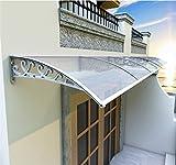Vordach Klar Tür-Fenster-Markise Markise, Sonnen Regen Shelter Roofing Canopie Sonnenschutz-Tür Patio Abdeckung UV-Schutz Beschattung Überdachung (Size : 200×98×25cm)