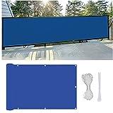 DGHETF Balkon Sichtschutz Balkonabdeckung, Wind- Und Uv-Schutz, Balkonbespannung Mit Ösen Und Kordel, für Balkongeländer, Terrasse & Garten