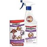 Stoppex® Parasit Milben und Bettwanzenstopp - Milben und Bettwanzen bekämpfen mit Sofortwirkung - Milbenspray für Matratzen und Sofa