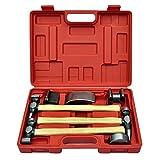 Oushome 7-TLG. Karosserie-Ausbeulset Ausbeulhammer Dellen-Reparatur-Set