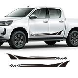 Auto Seitenaufkleber,Für Ford Ranger Raptor Isuzu DMA Nissan NAVARA Toyota Hilux Pickup Zubehör 2 Stück Autotür Seitenschweller 4x4 Aufkleber