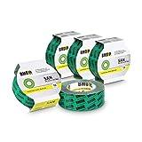 5x BMD - san Hochleistungsklebeband (Grün - 50mm x 25lfm) nach DIN Norm 4108 Teil 7 Klebeband