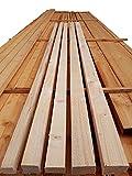 Dachlatten 3x3, 3x5, 4x4, 4x6 cm Holzlatten sägerau Fichte Latten je 10 Stück 2m lang Kantholz Lattung (4 x 6)
