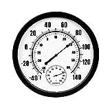 YUTRD ZCJUX. Thermometer Indoor Outdoor Großes Wandthermometer und Hygrometer Mechanische Watchkern Keine Batterie erforderlich