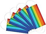 Gulbunda Modische Siebenfarbige Regenbogenvliesstoffe, Personalisierte DruckdekorationszubehöRteile, Bieten Starken Gesundheitsschutz Und Sind FüR Erwachsene Gesichter Geeignet (50P - Regenbogen)