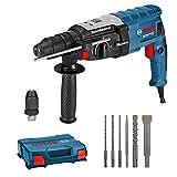 Bosch Professional Bohrhammer GBH 2-28 F (880 Watt, Bohr-Ø Beton max: 28 mm, inkl. 6tlg. Bohr-Meißel-Set, SDS-plus, in L-Case) - Amazon Exclusive Set