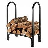 LJQQ Brennholzregale Brennholzlager aus Schwarzem Metall, Bodenstehender Rostbeständiger Holzständer für Geräteschuppen Im Freien Balkonterrasse, Montage Erforderlich