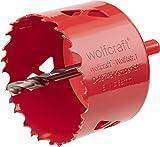 wolfcraft Bi-Metall-Lochsäge I 5474000 I Für Trockenbaumaterialien, Holz, Kunststoffe und Metalle, Schnitttiefe 40 mm