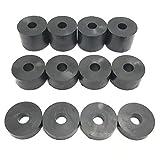 Gummi-Abstandshalter, 6 mm, M6, 12 Stück, 4 x 15 mm, 4 x 10 mm, 4 x 5 mm.