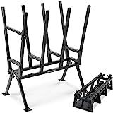 Monzana Gardebruk Sägebock 77x50x105cm 400 kg Belastbarkeit mit Feststellbügel Höhenverstellbar Stahl Holzsägebock Holz Sägehilfe