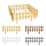 BooGardi Steckzaun aus imprägniertem Holz zum Abgrenzen Weiß 30 x 59,5 cm in verschiedenen Größen und Farben