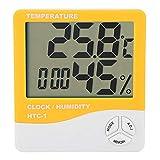 Thermometer Innenfeuchtemessgerät Hygrometer Feuchtigkeitssensor mit kleinem Volumen Raum für den Innenhof Gewächshaus Innengarten(Orange)