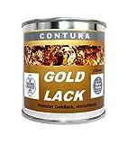 Goldlack Goldfarbe Effektlack Metalleffekt Lack innen & außen für Holz, Metall Bilderrahmen Gold- Effekt wie Blattgold 125ml