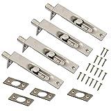 Anti-Diebstahl-Türverdeckte Riegel, Doppelseitige Sicherheitstür-Bündigriegel für Innentüren, Hochleistungs-Edelstahl-Schlossknauf für Primär-Sekundärtüren