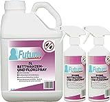 FUTUM 5L + 2x500ml Bettwanzen Spray, Flohspray, hochwirksames Bettwanzen Mittel auf Wasserbasis, fleckenfrei, geruchlos, ohne ätzende Eigenschaften und Treibgase, mit Schnell- und Langzeitwirkung
