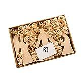Domeilleur 10 Stück Set Osterszene Holzdeko Osterdeko Holzdeko Tischdeko Ornament Kreuz Auferstehungsszene Deko Holz Krippe Set