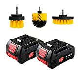 VOLT1799 2X 18V 5.5Ah für Li-Ion Ersatzakku Bosch BAT609G BAT618 BAT618G BAT619 BAT619G BAT622 BAT620-2PK SKC181-202L, mit einem Satz Bürsten