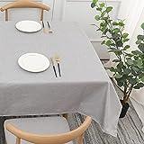 Haushalt Einfarbig Baumwolle und Leinen Tischdecke Rechteckiger Wohnzimmer Couchtisch im Stil, Stilvoll und Einfach E140x220cm
