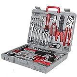 Werkzeugset- 555 teiliges, Werkzeug-Set Haushaltswerkzeugset mit Koffer, werkzeugkoffer gefüllt profi, Ideal Weihnachtsgeschenk, für den Haushaltsbereich Universal-Haushalts-Werkzeugkoffer