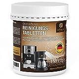 Coffeeano 150 Reinigungstabletten für Kaffeevollautomaten und Kaffeemaschinen Clean&Protect. Reinigungstabs kompatibel mit Jura, Siemens, Krups, Bosch, Miele, Melitta, WMF uvm.
