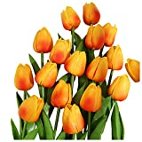 SHINEHUA 10 Stücke Künstliche Blumen Gefälschte Blume Tulpe Latex Material Real Touch für Haus Wohnzimmer Büro Garten Hotel Restaurant Hochzeit Party Deko Blumenarrangements Muttertagsgeschenk