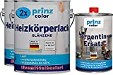 prinzcolor Premium Heizkörperlack LH Thermolack weiß Glänzend Terpentinersatz Weiß 5l HK Lack - Terpentinersatz