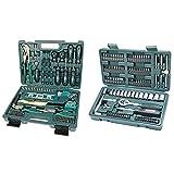 Brüder Mannesmann M29084 Werkzeugkoffer bestückt, 87-tlg & eckschlüssel und Bitsatz, 130-tlg