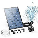 AISITIN Solar Springbrunnen 2.5W DIY Solar Teichpumpe 2021 Upgrade mit 1.2 m Wasserleitung Solarbrunnen mit 6 Fontänenstile Solar schwimmender Fontäne Pumpe für Gartenteich, Vogel-Bad, Fisch-Behälter