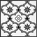 Decomeister Selbstklebende Bodenfliesen Kunststoff Fliesen Vinyl-Fliesen Bodenbelag Probemuster 15,25 x 30,5 cm Klassisches Classic Ornament
