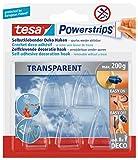 tesa 58900-00013-03 Powerstrips DECO Haken (S) 5er Pack bis 200 gr transparent, kristall klar