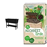 Keter Alfresco Hochbeet, anthrazit & Universal Bio Hochbeet-Erde 40 Liter
