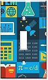 Dekorative Lichtschalter-AbdeckplatteSingle Gang-Kippschalter/Wandplatte - Mathematik & Naturwissenschaften