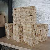 30 kg Eiche Anmachholz – Sehr sauber und trocken – Perfektes Anfeuerholz für eine gemütliche Raumwärme - Ideales Zubehör um Brennholz im Kamin zu entfache