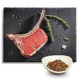 KAUF DEIN STEAK 3 * Tomahawk-Steaks (DRY AGED am Knochen gereift) inkl. Steakpfeffer, das perfekte Steak, ca. 3-3,5kg Tomahawk-Steaks, Grillen, Fleisch geniessen