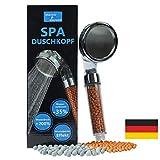 SPA Duschkopf wassersparend mit Druckerhöhung • 200% mehr Wasserdruck • Kalkfilter Dusche Handbrause • 344 Wasserlöcher • Zen Shower Filter • 3 Duschköpfe in 1 mamir shower