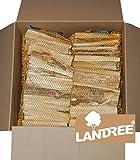 Anfeuerholz 18Kg (6 Netze a 3 Kg), Anzündholz, Holzstücke, trocken, sofort einsetzbar von Landree®