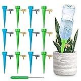 Automatisch Bewässerung Set,Automatische Bewässerung Balkon mit Einstellbar,Automatische Bewässerung zimmerpflanzen,Pflanzen Bewässerung im Urlaub,Bewässerung DIY Kit(12 Stück)