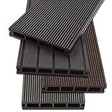 Home Deluxe - WPC Terrassendiele Anthrazit - Inkl. Unterkonstruktion und kompl. Zubehör (12 m²) | Terrassenboden Poolumrandung Balkonbelag