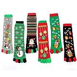 YYANG 6Paar Kniesocken Für Frauen, Fünf-Fuß-Socken Absorbieren Schweiß Und Halten Warm, Unterteilt In Acrylherbst Und Winter