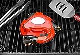 Grillbot Automatischer Grillreinigungsroboter mit Nylonbürsten und Tragetasche - BBQ Grillreiniger - Grillbürste - Grillschaber - BBQ Zubehör (Rot)