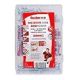 fischer 535972 MEISTER-BOX DUOPOWER + Schraube, Werkzeugkiste mit 160 Dübeln und Schrauben, Universaldübel, praktisches Set, Dübelkiste für Heimwerker & Profis
