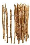 Staketenzaun Länge 5 M - Raum 7-8 Cm -stiltreu Staketenzäune - Rollzaun Holz - Zaun Haselnuss - Deko Für Garten (80)