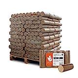 HEIZFUXX Holzbriketts Hartholz Nestro XL Kamin Ofen Brenn Holz Heiz Grill Brikett 10kg x 96 Gebinde 960kg / 1 Palette Paligo