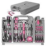 Hi-Spec 53-teiliges Werkzeugset in Pink/Rosa. Allgemeine DIY-Reparatur- und Wartungshandwerkzeuge für Haus und Garage in einer Aufbewahrungsbox für Frauen- Mädchen